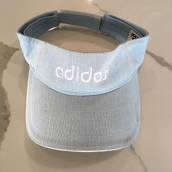 84f41533db29b adidas Accessories - ADIDAS ~ vintage spell out light denim visor hat
